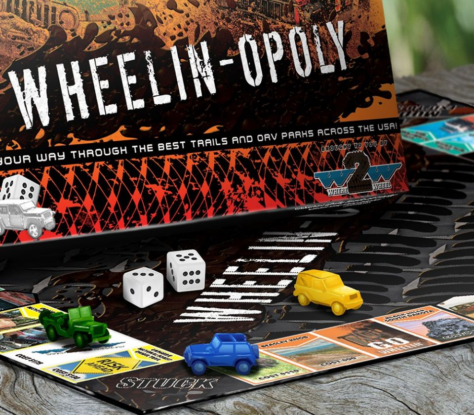 Check out this off-road board game that we have created to help fund Where2Wheel Off-Road Parks! We have seen that too many offroaders live in areas where trails are scarce, and we are setting out to solve this through Where2Wheel Off-Road Parks. All profits go towards building Off-Road Parks where they are needed most!  https://where2wheel.com/wheelin-opoly