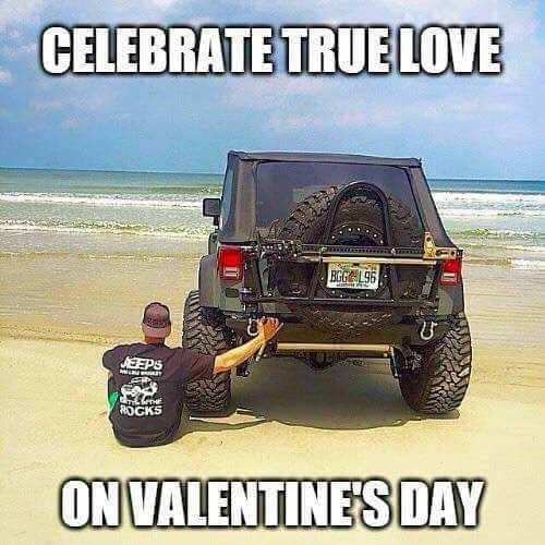 Who's getting to spend Valentine's Day with their 4x4?