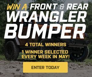 Jeep Owners: want brand new front and rear bumpers? ExtremeTerrain is running a month long giveaway for four winners who will get brand new bumpers. You can enter the contest daily here: https://www.extremeterrain.com/wrangler-jeep-bumpers-towing.html