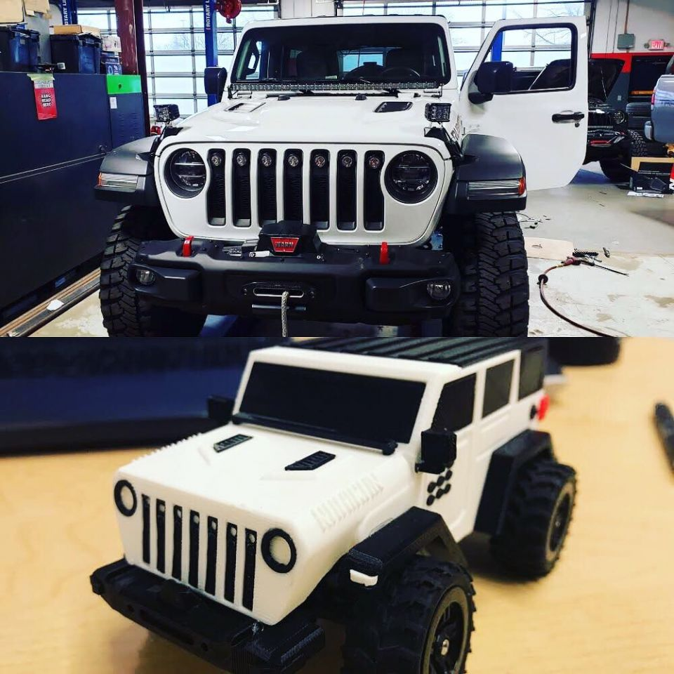 "How much do you love your Jeep?  Do you look back over your shoulder after parking your pride & joy?  We know that you have built your #jeep to be the most BA rig on pavement and trail. Now you can bring your Jeep with you with this fully customized ""Mini-Me"" Jeep. We will design your ""Mini-Me"" Jeep including all visible aftermarket accessories: bumpers, light bars, roof racks, etc…  This ""Mini-Me"" Jeep is the size of a large cell phone & it fits nearly anywhere as a trophy to celebrate your Jeep! To learn more or order yours today visit: https://deepspacedivinefinds.com/collections/jeep-mini-me"
