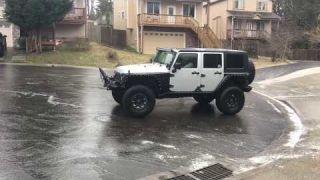 Jeep on black ice